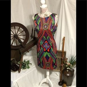 AGB multicolored floral Dress 14P petite silky